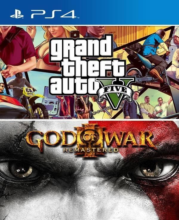 2 Juegos En 1 Gta V Mas God Of War Iii Resmastered Juegos